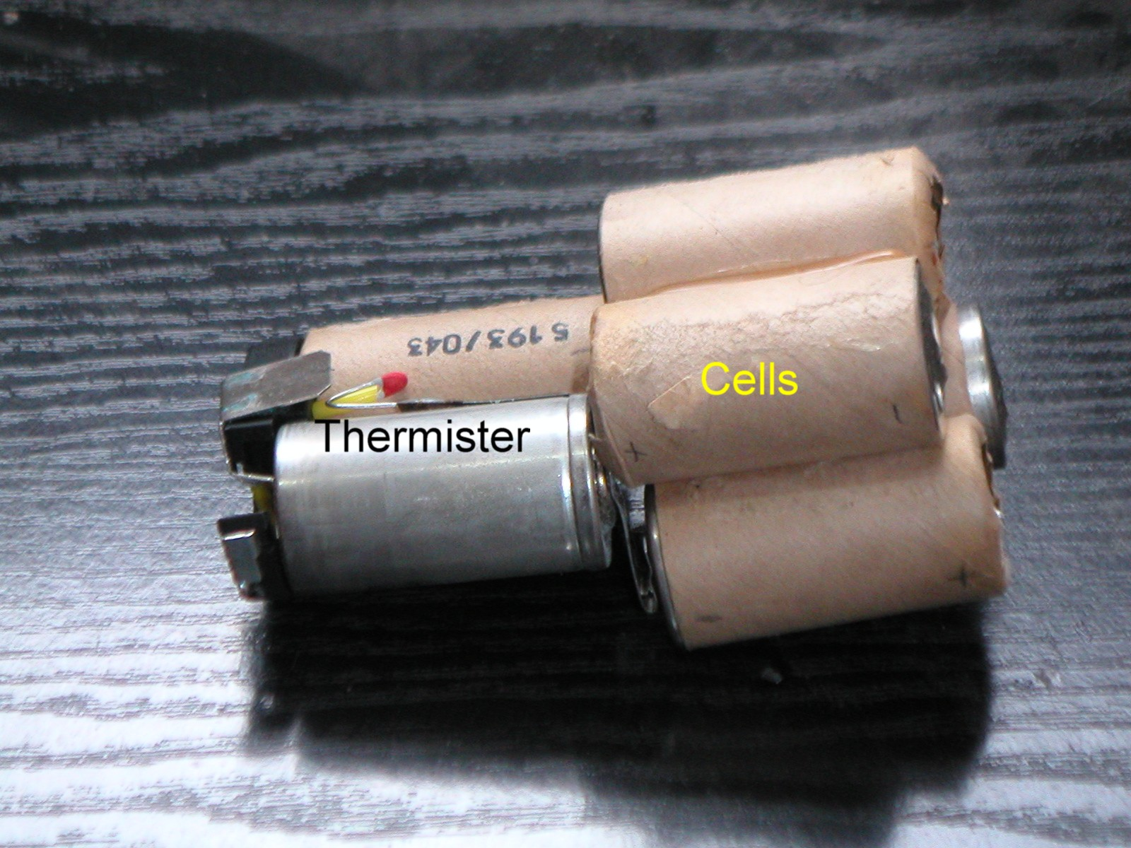 Battery cells removed